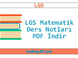 LGS Matematik Ders Notları PDF İndir