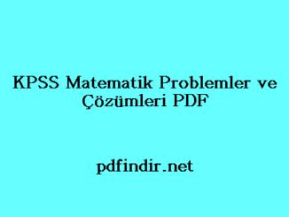 KPSS Matematik Problemler ve Çözümleri PDF