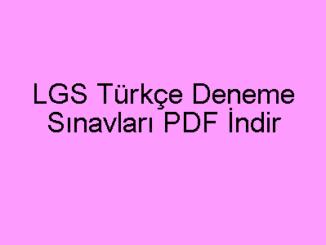 LGS Türkçe Deneme Sınavları PDF İndir-min