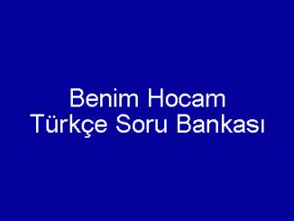 TYT Benim Hocam Türkçe Soru Bankası