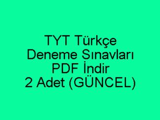 TYT Türkçe Deneme Sınavları PDF İndir