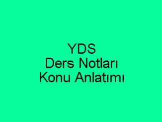 YDS Ders Notları ve Konu Anlatımı