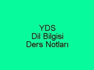 YDS Dil Bilgisi Ders Notları