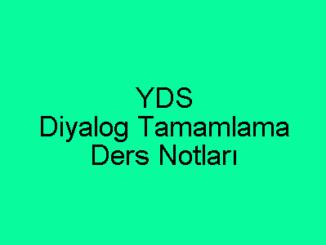 YDS Diyalog Tamamlama Ders Notları