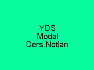 YDS Modal Ders Notları
