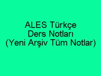 ALES Türkçe Ders Notları