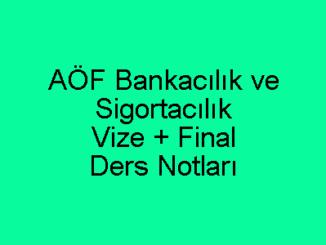 AÖF Bankacılık ve Sigortacılık