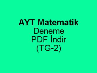 AYT Matematik Deneme
