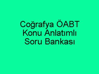 Coğrafya ÖABT Konu Anlatımlı Soru Bankası