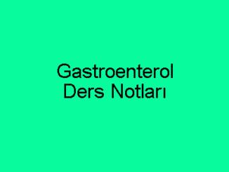 Gastroenterol Ders Notları
