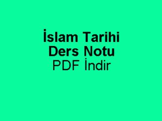 İslam Tarihi Öğretmenlik Alan ÖABT Ders Notu