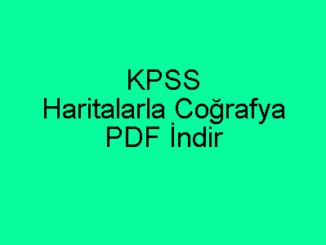 KPSS Haritalarla Coğrafya PDF İndir