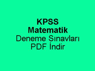 KPSS Matematik Deneme Sınavı