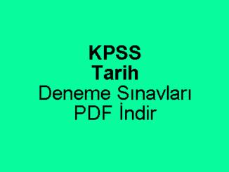 KPSS Tarih Deneme Sınavı