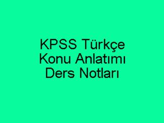 KPSS Türkçe Konu Anlatımı