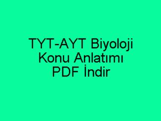 TYT-AYT Biyoloji Konu Anlatımı