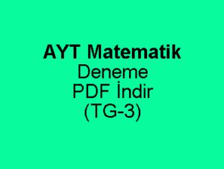 YKS AYT Çözümlü Matematik Deneme Sınavı