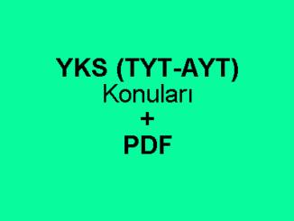 YKS (TYT-AYT) Konuları