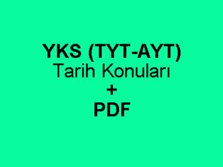 YKS (TYT-AYT) Tarih Konuları