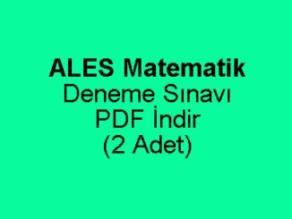 ALES Matematik Deneme Sınavı PDF