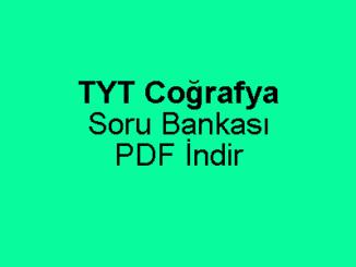 TYT Coğrafya Soru Bankası PDF İndir