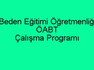Beden Eğitimi Öğretmenliği ÖABT Çalışma Programı