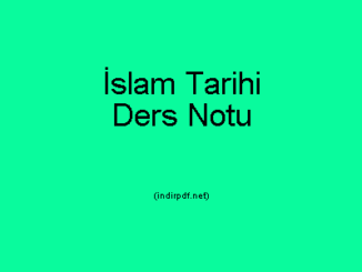 İslam Tarihi Ders Notu